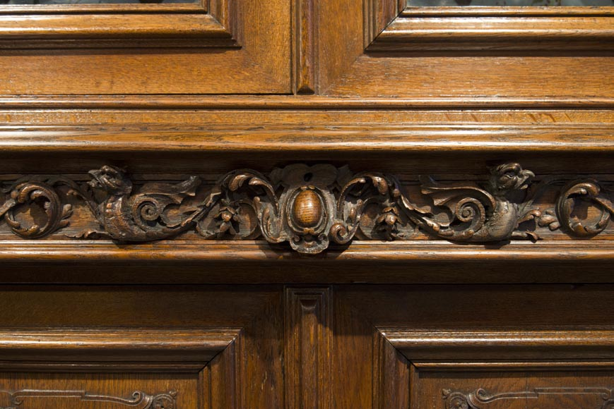 Richly carved Neo-Renaissance style buffet-13