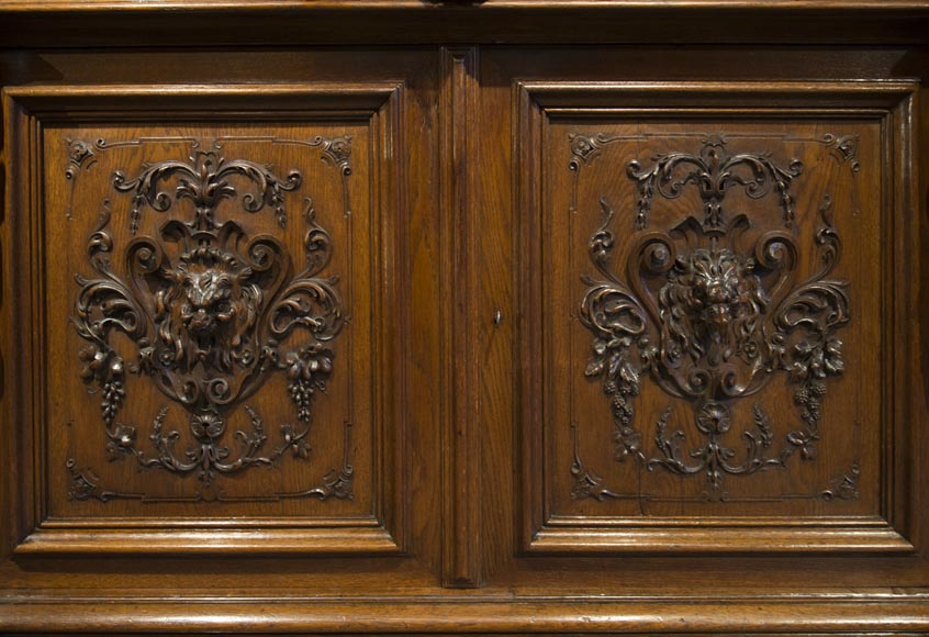 Richly carved Neo-Renaissance style buffet-14
