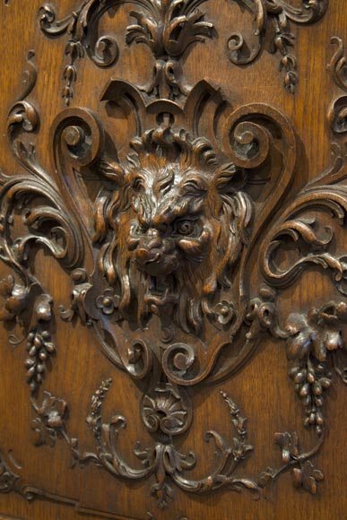 Richly carved Neo-Renaissance style buffet-16
