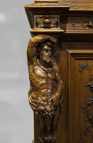 Richly carved Neo-Renaissance style buffet-18