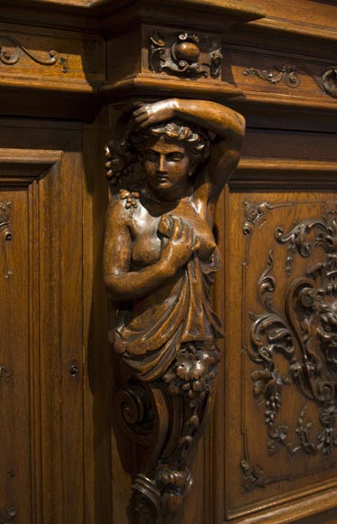 Richly carved Neo-Renaissance style buffet-19