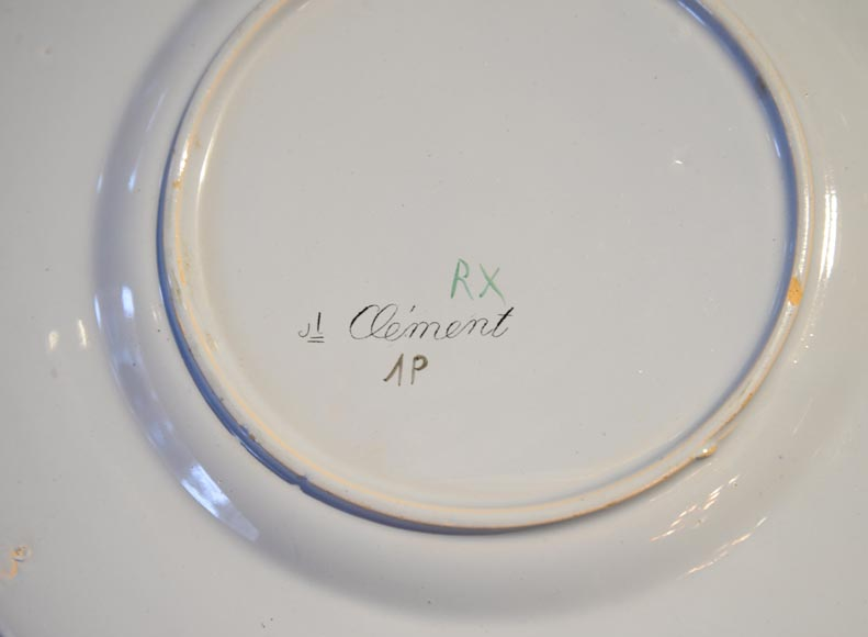 SAINT-CLEMENT manufactory - Plate set with orchids-6