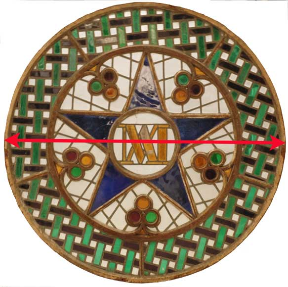 Stained glass rose window with star-3