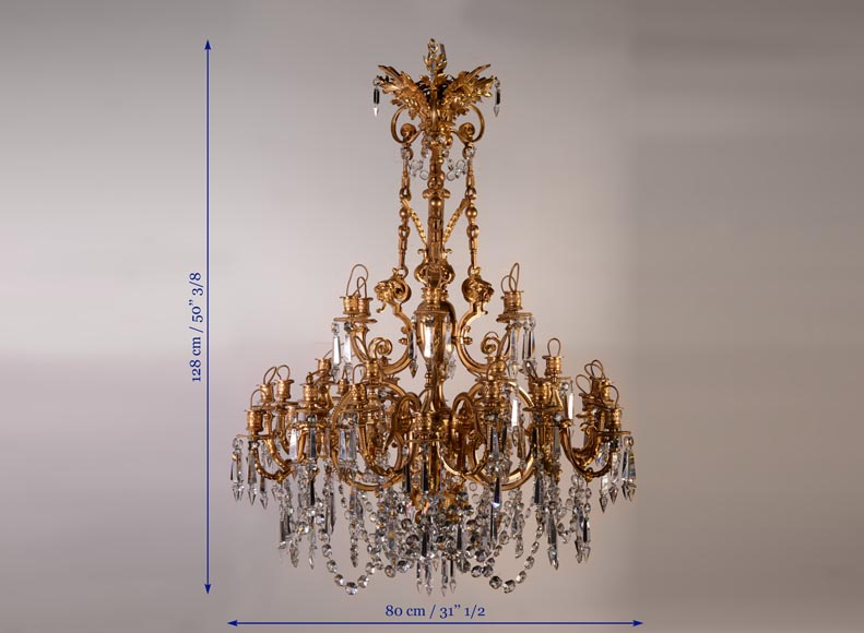 An antique Napoleon III style chandelier with lion's heads and masks-8