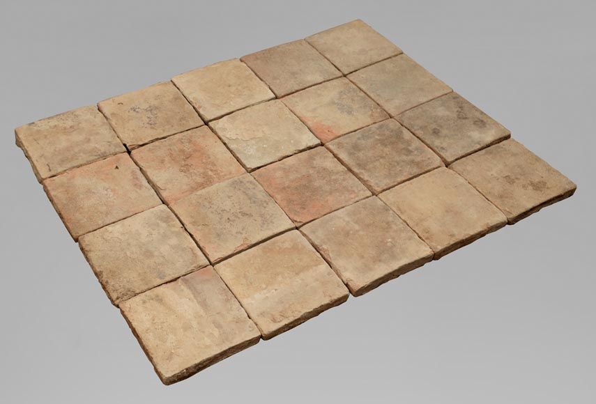 18th century floor, composed of raw clay slabs-0