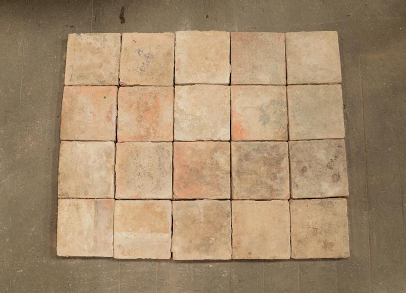18th century floor, composed of raw clay slabs-2