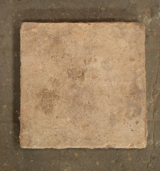18th century floor, composed of raw clay slabs-3