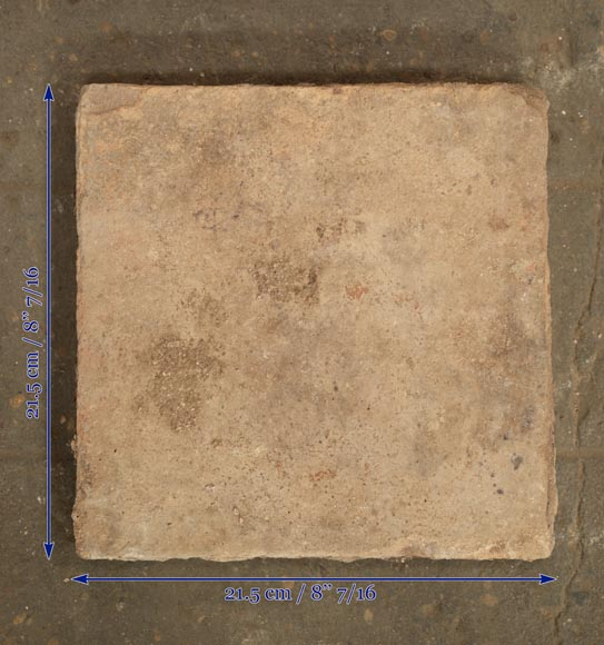 18th century floor, composed of raw clay slabs-8