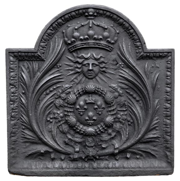 Antique cast iron fireback with French coat of arms, 18th century - Reference 10983