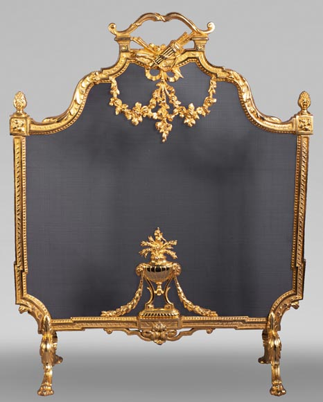 Louis XVI style firescreen with a quiver-0