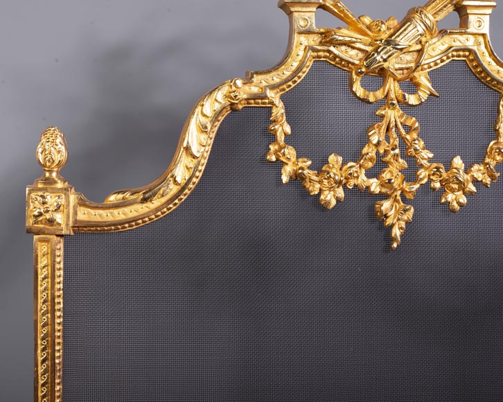 Louis XVI style firescreen with a quiver-1