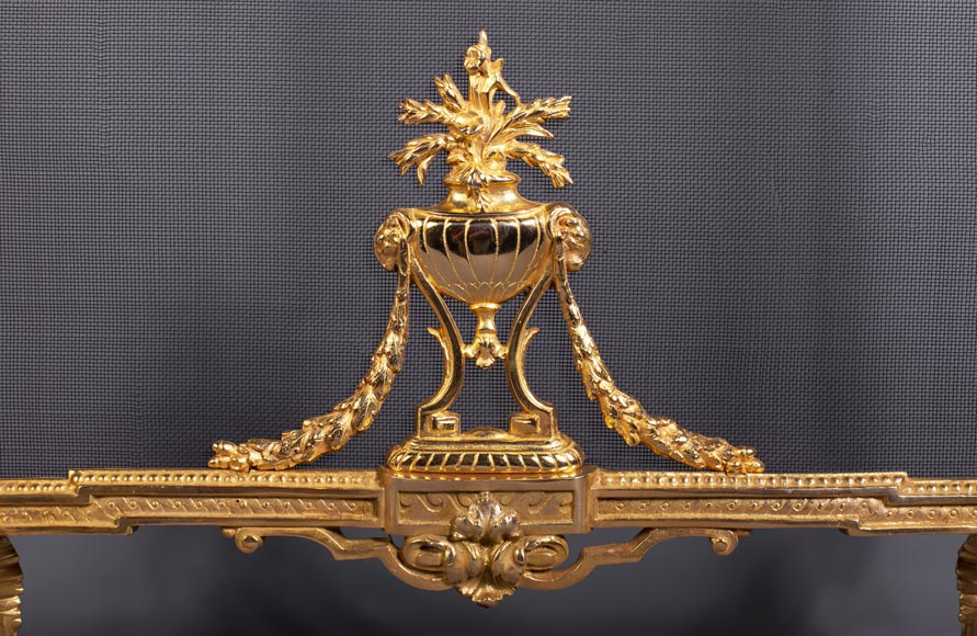 Louis XVI style firescreen with a quiver-5