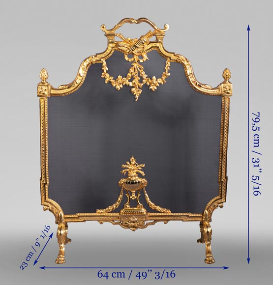 Louis XVI style firescreen with a quiver-8