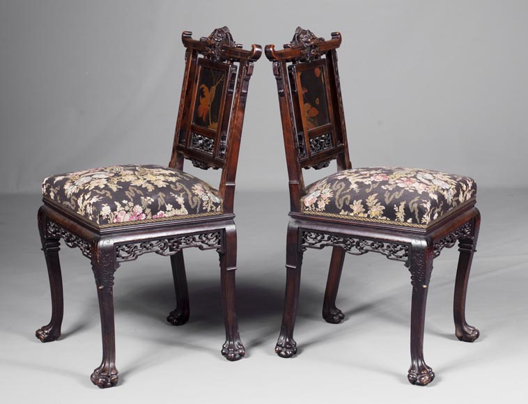 Pair of chairs inspired by the Far East-1