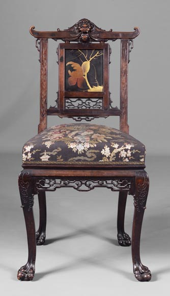 Pair of chairs inspired by the Far East-4