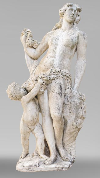 Venus and Cupid, 17th century Dutch sculpture, in Carrara marble-0