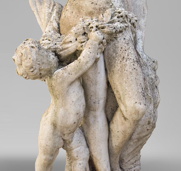 Venus and Cupid, 17th century Dutch sculpture, in Carrara marble-1