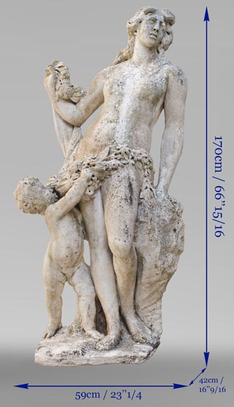 Venus and Cupid, 17th century Dutch sculpture, in Carrara marble-13