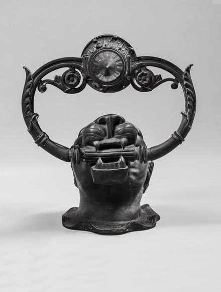 Suite of four Napoleon III period sconces with bronze panther head-2
