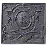 Daphne and Apollo, antique Louis XVI style fireback with a mythological decor