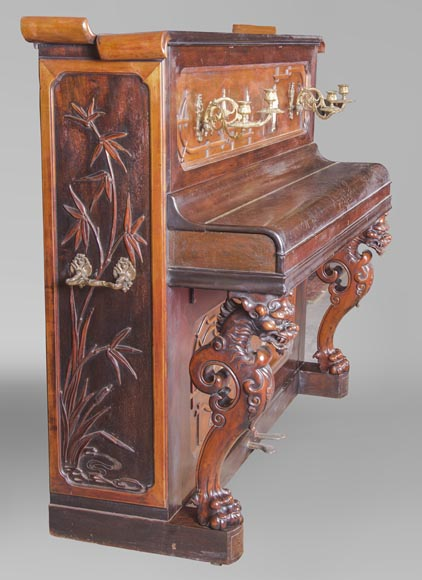 Perret et Vibert (attr. to) - Japanese style piano with an Oriental dragon-2