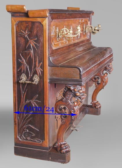 Perret et Vibert (attr. to) - Japanese style piano with an Oriental dragon-14