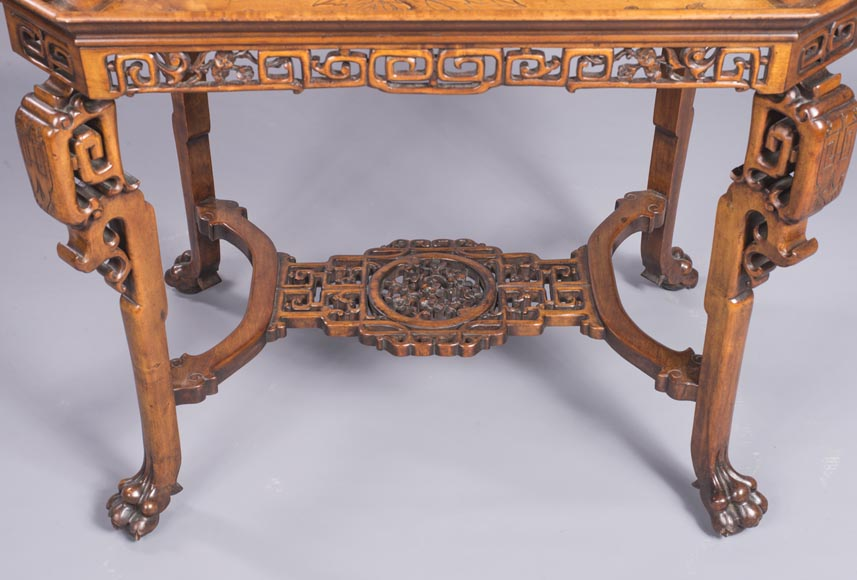 Japanese style tea table with mother-of-pearl inlays-2