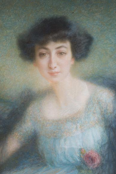Lucien LEVY-DHURMER (1865-1963), portrait of Emmy Fournier-1