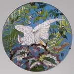 André-Fernand THESMAR (1843-1912) and Ferdinand BARBEDIENNE (1810-1892) - Ornamental japanese style plate