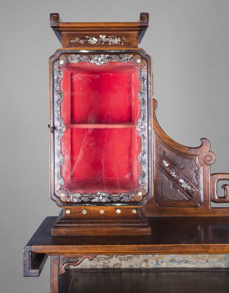 Maison des Bambous Alfred PERRET et Ernest VIBERT (attributed to) - Far Eastern inspired display cabinet-9