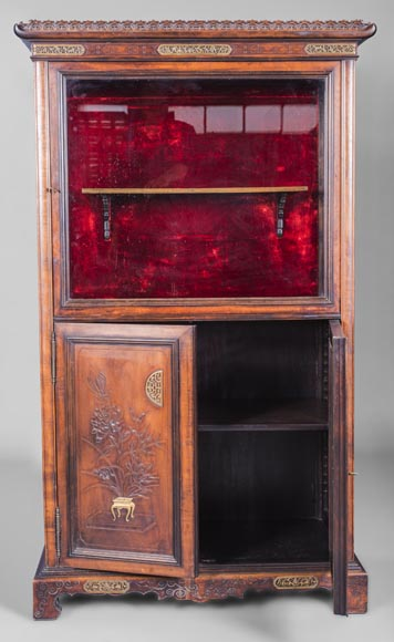 Display cabinet with Far Eastern decoration in the style of Gabriel Viardot (1830-1906)-1