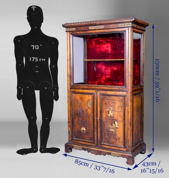 Display cabinet with Far Eastern decoration in the style of Gabriel Viardot (1830-1906)-8