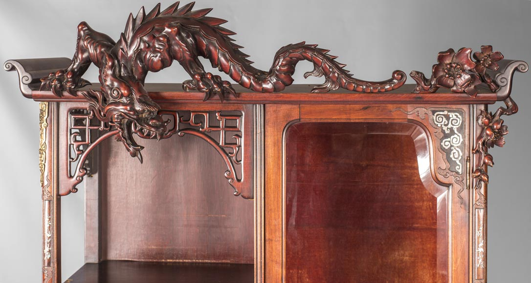 Display cabinet inspired by the Far East-15