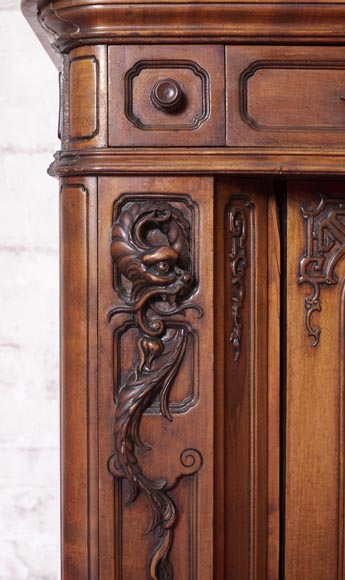 Washbasin cabinet and its mirror in the Far Eastern style-8