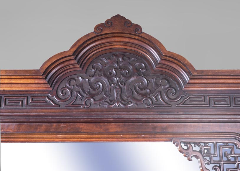 Gabriel VIARDOT (attributed to) - Asymmetrical cabinet with rich engraved and sculpted decoration of extreme oriental inspiration-2
