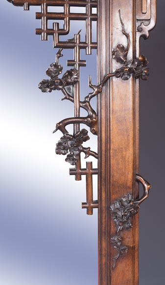 Large japanese style mirror with dragon-6