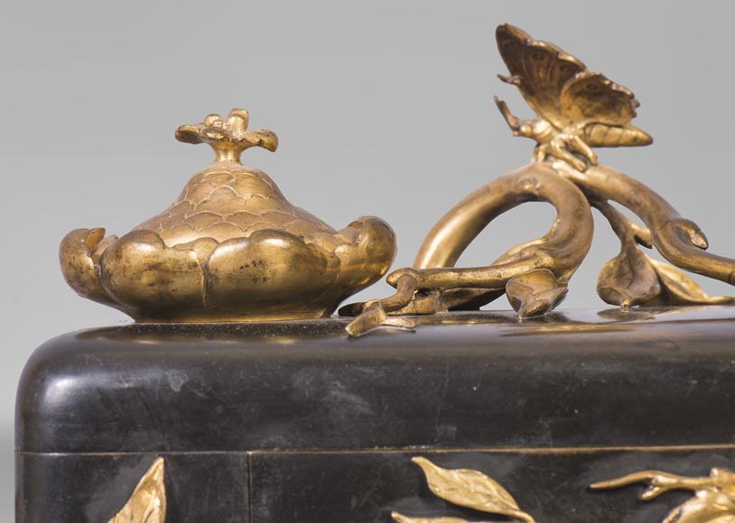 Frédéric-Eugène PIAT (1827-1903) (attributed to) - Inkwell with butterfly-7