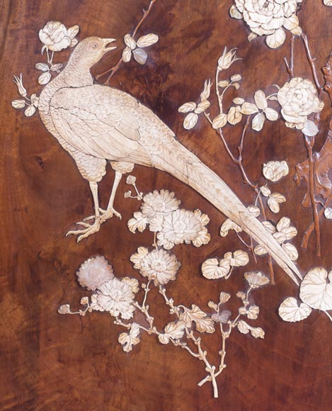 Gabriel VIARDOT (1830-1906) (attributed to) - A major Japanese wardrobe with large marquetry panels-7