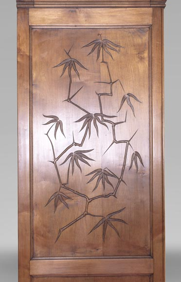 Gabriel VIARDOT (1830-1906) (attributed to) - A major Japanese wardrobe with large marquetry panels-11