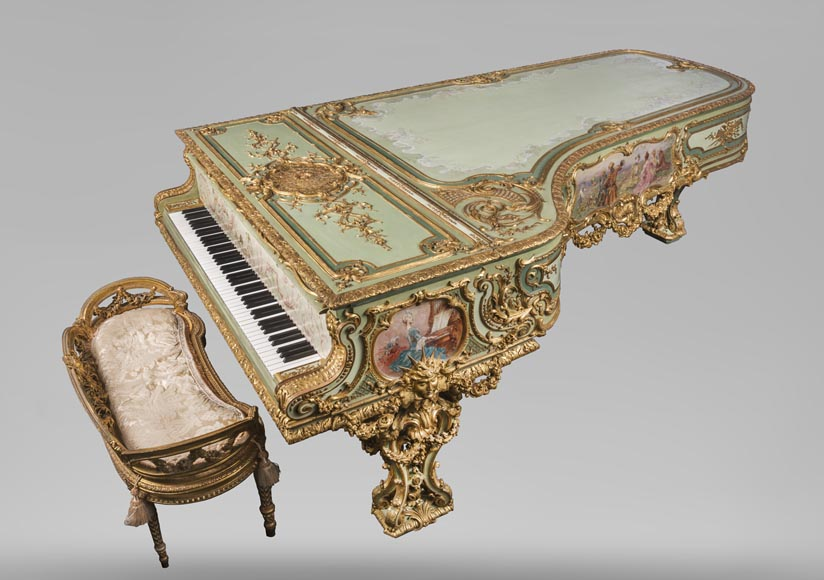 Steinway & Sons – Th. Kammerer (Cuel & cie), A Concert Grand Piano (unique piece) which belonged to Cornelius Vanderbilt II-0
