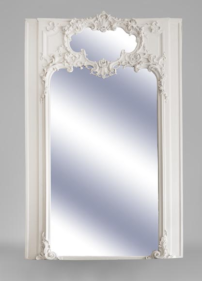 Beautiful antique Louis XV style trumeau with two mirrors-0