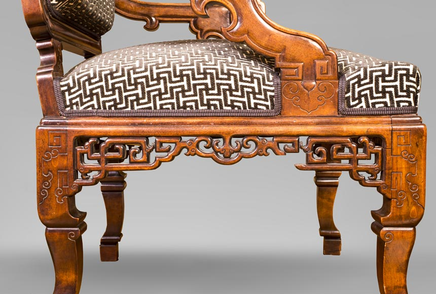 Gabriel VIARDOT (attributed to) - Set of two dragon chairs-7