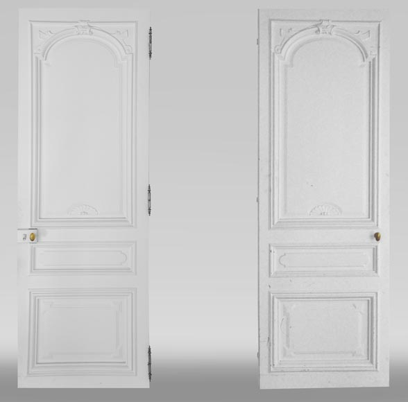 Pair of simple Regency style doors-0