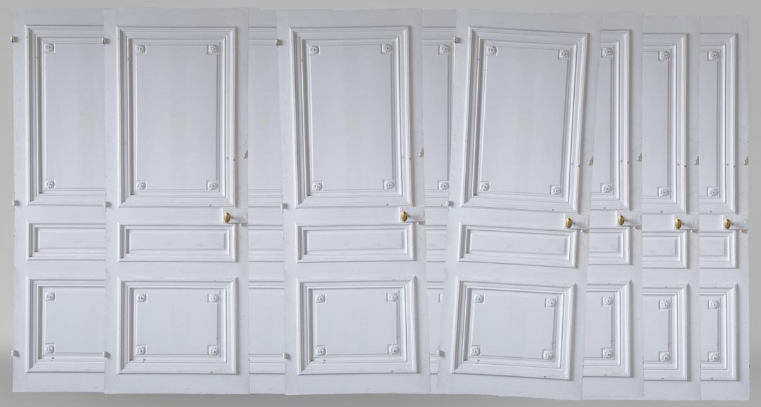 Set of 12 single doors in the Regency style-0