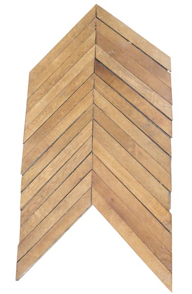 Set of Point de Hongrie oak parquet flooring-0