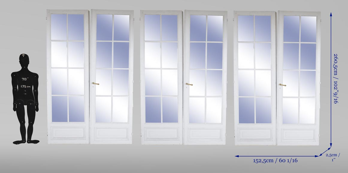 Set of three double doors with mirror -3