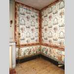A beautiful set of polychrome wallpaper from a room