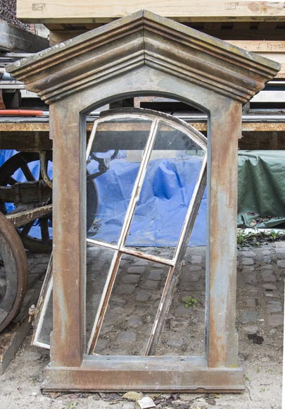 Set of four cast iron window frames-2