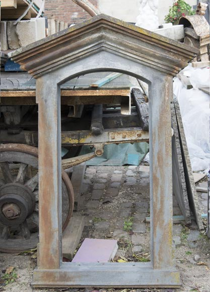 Set of four cast iron window frames-4