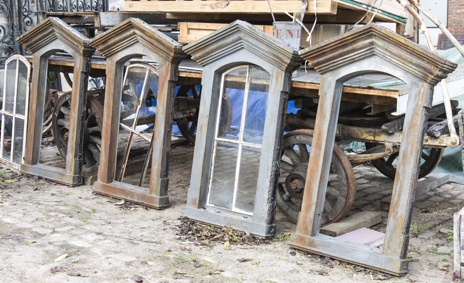 Set of four cast iron window frames-6